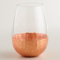 Copper Stemless Wine Glasses, Set of 4