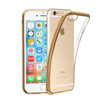 """For iPhone For Samsung Luxury Plating Gilded TPU Silicone Phone Case Cover For Apple iPhone 6 6S 4.7"""" / Plus 5.5"""" / 5 5s SE"""