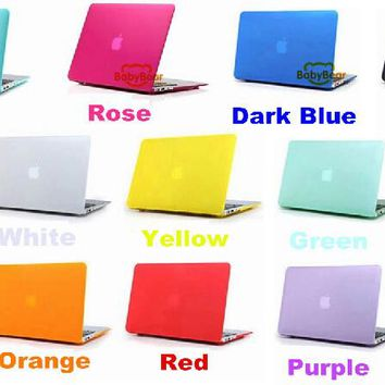 2in1 Luxury Matte Case For Apple Macbook Pro13 15 Air 13 11 Inch Case Protector For Mac book case  + EU or US Keyboard Cover