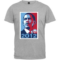 Obama - 2012 Campaign Poster Grey T-Shirt