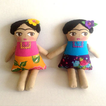 Little Frida Kahlo Doll • Feet what do I need you for when I have wings to fly doll