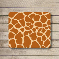 Funny Pattern Giraffe SKIN Mouse Pad Desk Pad Fabric Yellow Stone Seamless MousePad Personalized Rectangle Pad Matte Art Gift Computer Pad