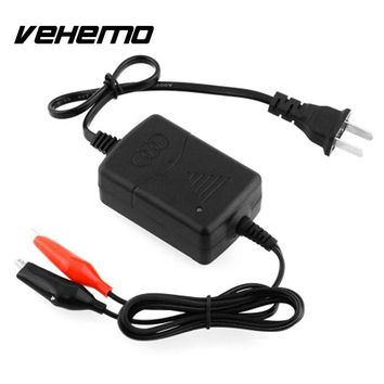 Vehemo Car Truck Motorcycle Car Charger Smart Compact Battery Charging Charger Maintainer Black