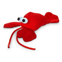 "Leaps & Bounds Lobster with Catnip Cat Toy, 4.5"" L X 2"" W 
