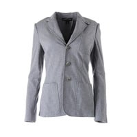 Ralph Lauren Womens Heathered Long Sleeves Three-Button Blazer