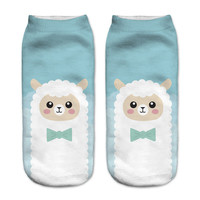 New! 3D Funny Sheep Ankle Socks For Women