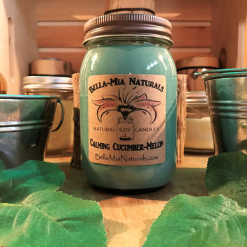 Calming Cucumber-Melon Everyday Natural Soy Candles