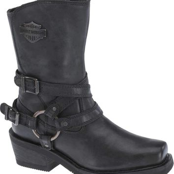 "Harley-Davidson® Women's Ingleside 7"" Motorcycle Boots. Black - D87091"