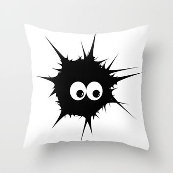 Cute monster furry  Throw Pillow by VanessaGF