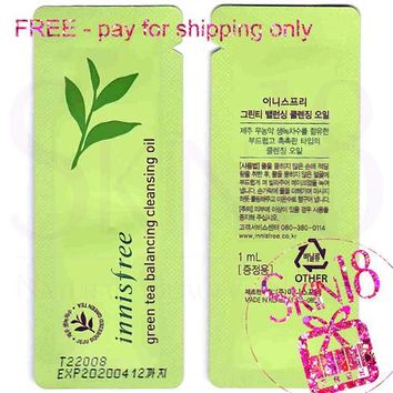 Freebies - Innisfree Green Tea Balancing Cleansing Oil (Sample Pack)  *exp.date 04/20