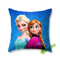 Disney Frozen Princess Anna And Elsa Square Pillow Cover