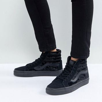 Vans Sk8-Hi Unisex Sneakers In Black Velvet at asos.com