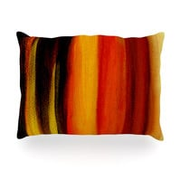 "Theresa Giolzetti ""Firework"" Yellow Orange Oblong Pillow"