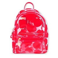 Clear Backpacks popular Clear Transparent Women Backpack Cute Printed Jelly Schoolbags For Teenage Girls High Capacity Women School Travel Backpack 2018 AT_62_4