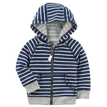 Baby Boy Carter's Striped French Terry Zip Cardigan | null