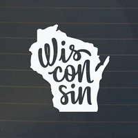 Wisconsin Car Decal - Wisconsin Decal - Wisconsin Sticker