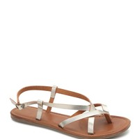 LA Hearts Brasilla Metallic Strappy Sandals - Womens Sandals -