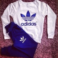 """Adidas"" Fashion Print Top Sweater Sweatshirt Pants Trousers Sweatpants Set Two-Piece"