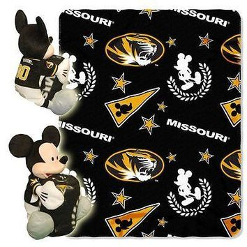 "MISSOURI TIGERS 40""X50"" DISNEY MICKEY MOUSE HUGGER PILLOW & THROW BLANKET SET"