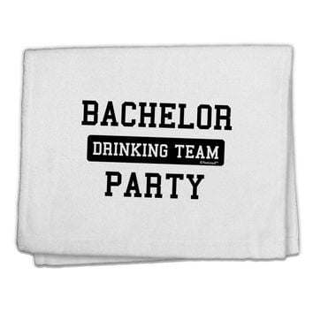 """Bachelor Party Drinking Team 11""""x18"""" Dish Fingertip Towel"""