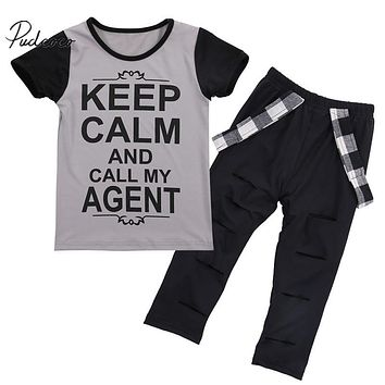Print Tops T-shirt + Pants Leggings