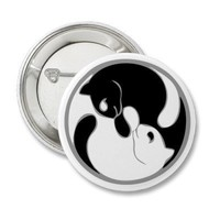 Ying Yang Cats Pins from Zazzle.com
