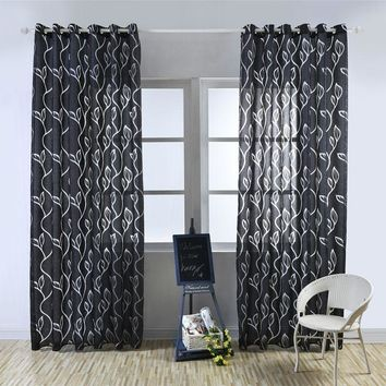 Modern decorative curtains jacquard gray curtains window curtain for bedroom window blind Treatment Home Textile
