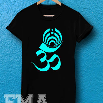ohm yoga bassnectar cool logo,T shirt for women and men