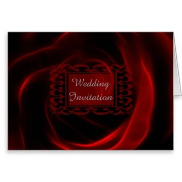 Red Rose wedding invitation Stationery Note Card