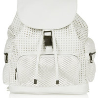 Perforated Backpack - White