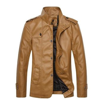 Good Soft Toughing With Thin Velet Lining Motorcycle Leather Jacket