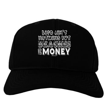 Beaches and Money Adult Dark Baseball Cap Hat by TooLoud