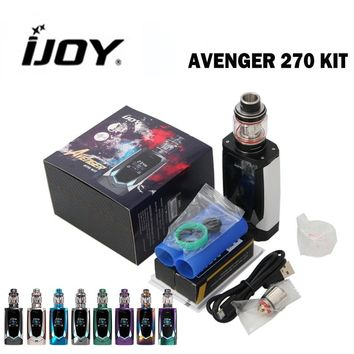 IJOY Avenger 270 Kit with Dual 20700 batteries 234W AVENGER SUBOHM TANK Voice Control Functions Fit for X3 family coil heads