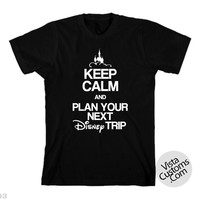 disney 50 keepcalm planyourtripNew Hot Black T-Shirt