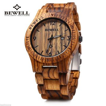 Luxury Natural Handmade Wood Watch Top Gift Auto Date Coffee Maple Wooden Watches Japnese Quartz Movement Wrist Watch for Men an