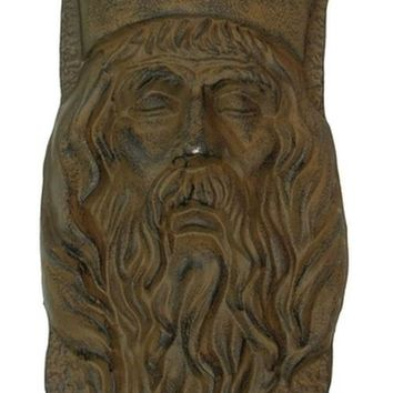 Cast Iron King Head With Crown