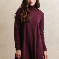 Corner Bistro Knit Dress In Burgundy