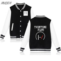 MULYEN Twenty One Pilots Baseball Uniform For Men Women Fleece Pink Hoodies Harajuku Pullover Sweatshirt Sudaderas Mujer
