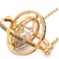 Harry Potter Necklace Time Turner Necklace Hermione Granger Hourglass Necklace