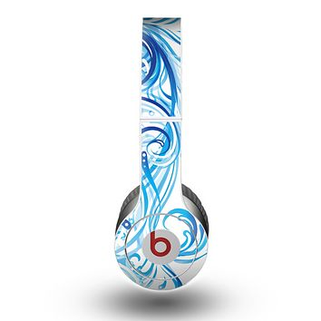 The Swirly Vector Water-Splash Pattern Skin for the Beats by Dre Original Solo-Solo HD Headphones