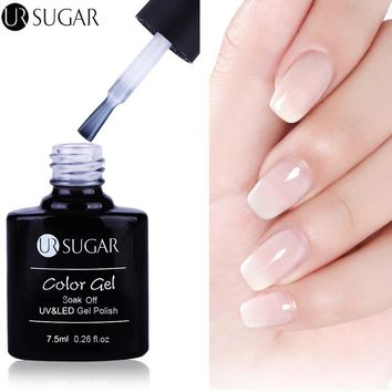 UR SUGAR 7.5ml Opal Jelly Gel Polish White Soak Off UV Gel Varnish Lacquer Long Lasting Nail Gel Manicure Nail Art UV Gel UV LED