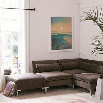 Cecilia Ruched Velvet Sectional Sofa | Urban Outfitters