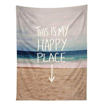 """My Happy Place"" Tapestry Wall Hanging Bedspread ~"