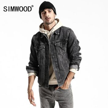Trendy Simwood 2018 Casual Denim Jackets Men's 100% Cotton New European and American Coats Long Sleeve Fashion Outwear Men Coat 180155 AT_94_13