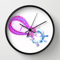 Inverted London Eye Art Wall Clock by Karl Wilson Photography