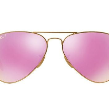 Cheap RAY BAN Aviator Polarized Cyclament Flash Sunglasses RB3025 112/1Q 58mm outlet