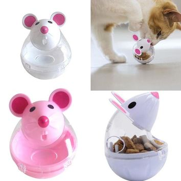Pet cat dog tumbler automatic leaking device cartoon mouse shape cat toy pet supplies Cat Automatic Feeders