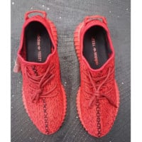 """Women Yeezy Boost """"Adidas"""" Sneakers Running Sports Shoes Red H"""