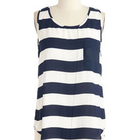 ModCloth Nautical Mid-length Sleeveless It is What it Ease Top