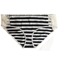 Tommy Hilfiger Cotton Hipster Panty w/Lace Sides (Large only)